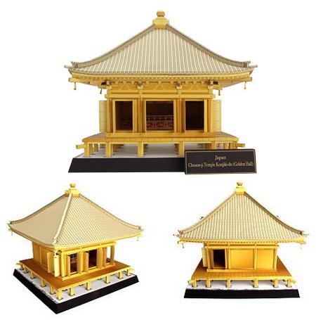 Japan Chuson-ji Temple Konjiki-do (Golden Hall) - Храм Тюсондзи. Золотой зал Кондзикидо