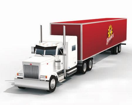 Peterbilt 379 Semi Truck - седельный тягач с прицепом фирмы Peterbilt
